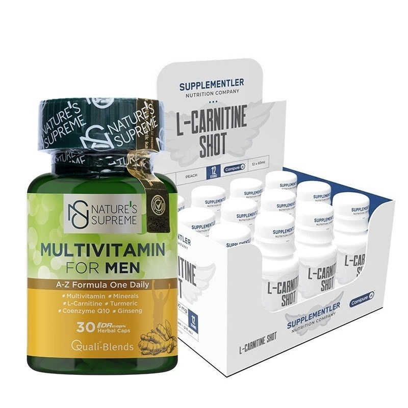 Supplementler.com L-Carnitine Shot + Nature's Supreme Multivitamin For Men Kombinasyonu
