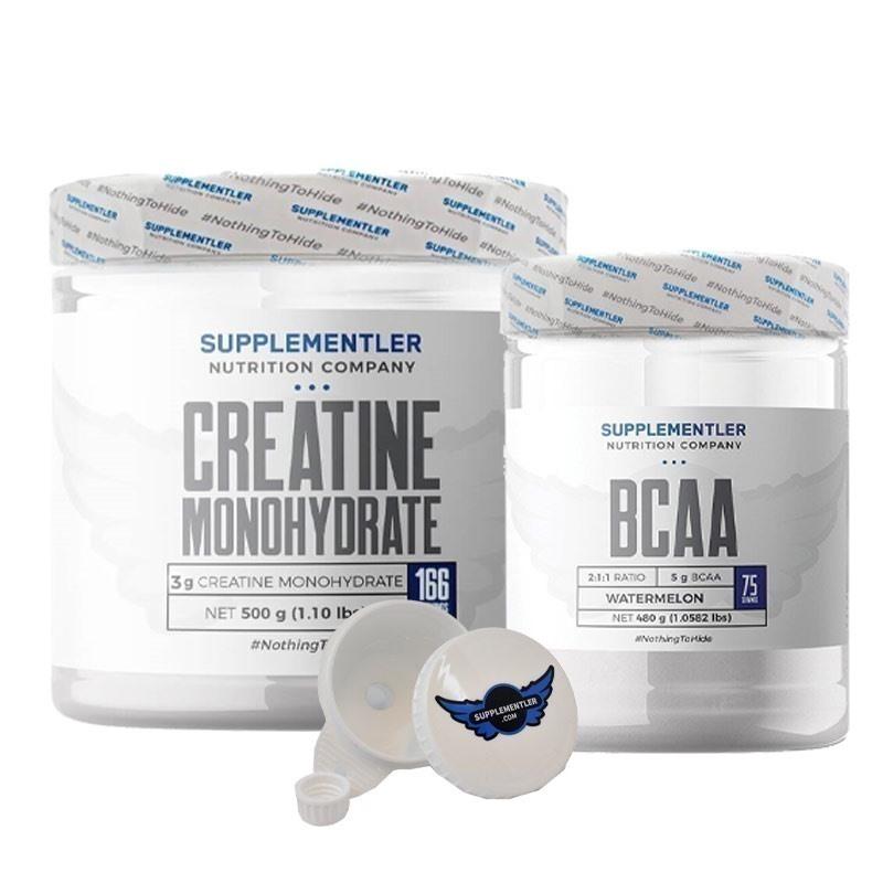 Supplementler.com Micronized Creatine 500 Gr + BCAA 480 Gr Kombinasyonu