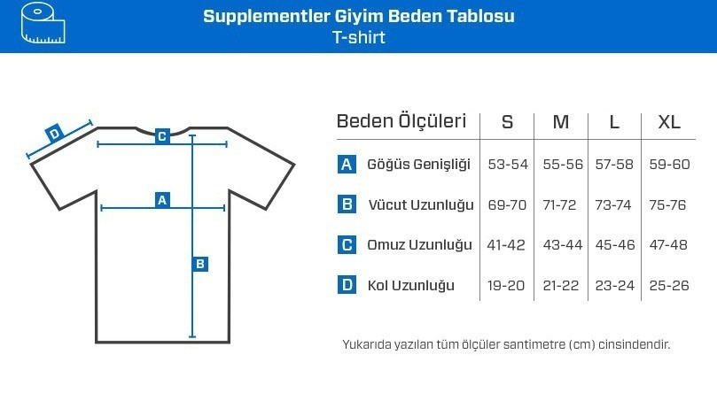 Supplementler.com Moustache T-Shirt Koyu Gri