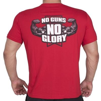 Supplementler.com No Guns No Glory T-Shirt Kırmızı