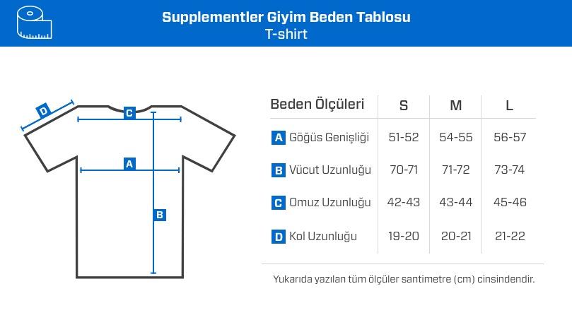 Supplementler.com No Guns No Glory T-Shirt Siyah