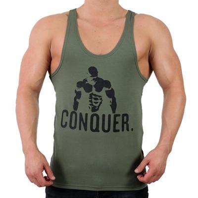 Supplementler.Com Posing Conquer Fitness Atleti Yeşil