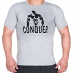 Supplementler.com Posing Conquer T-Shirt Açık Gri