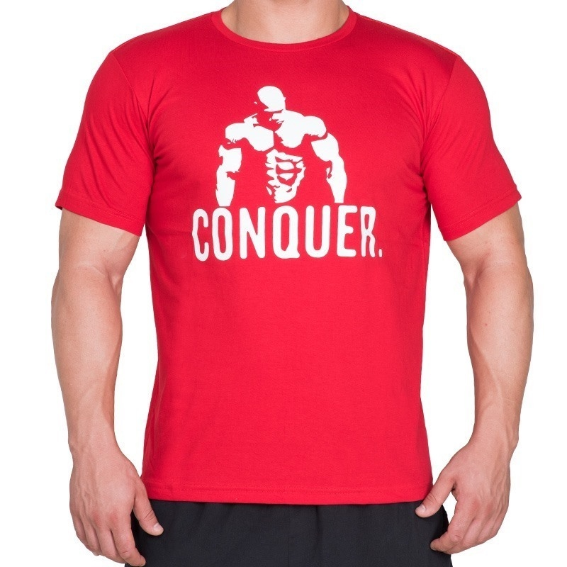 Supplementler.com Posing Conquer T-Shirt Kırmızı