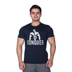 Supplementler.com Posing Conquer T-Shirt Lacivert
