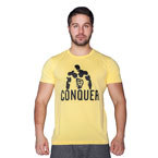 Supplementler.com Posing Conquer T-Shirt Sarı