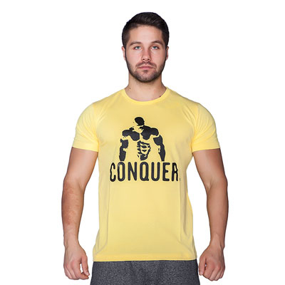Supplementler Supplementler.com Posing Conquer T-Shirt Sarı
