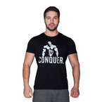 Supplementler.com Posing Conquer T-Shirt Siyah