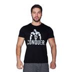 Supplementler.com Posing Conquer T-Shirt Siyah