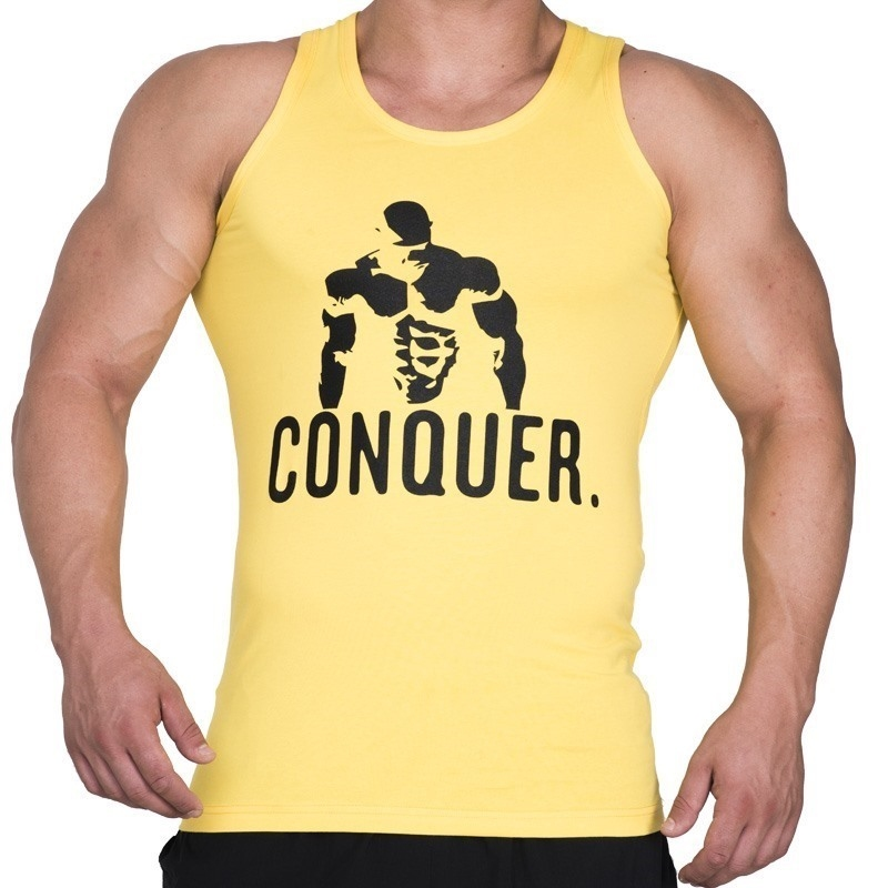 Supplementler.com Posing Conquer Tank Top Sarı