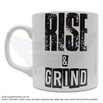 Supplementler.Com Rise And Grind Kupa Beyaz