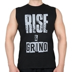 Supplementler.Com Rise&Grind Kolsuz T-Shirt Siyah