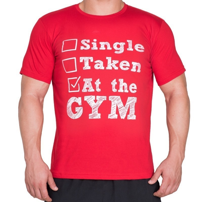 Supplementler.com Single Taken At The Gym T-Shirt Kırmızı