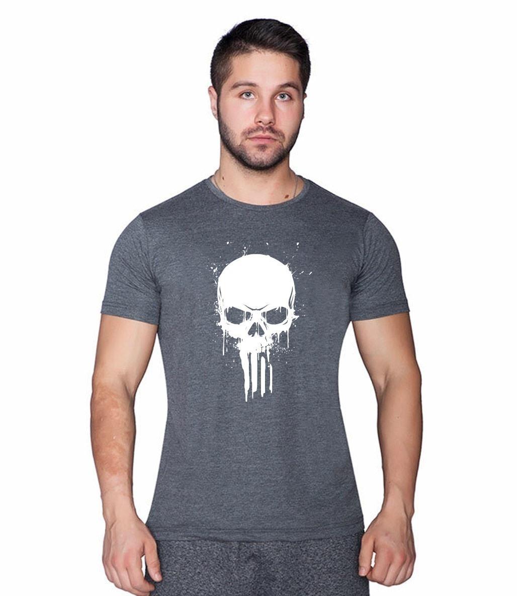 Supplementler.com Skull T-Shirt Gri