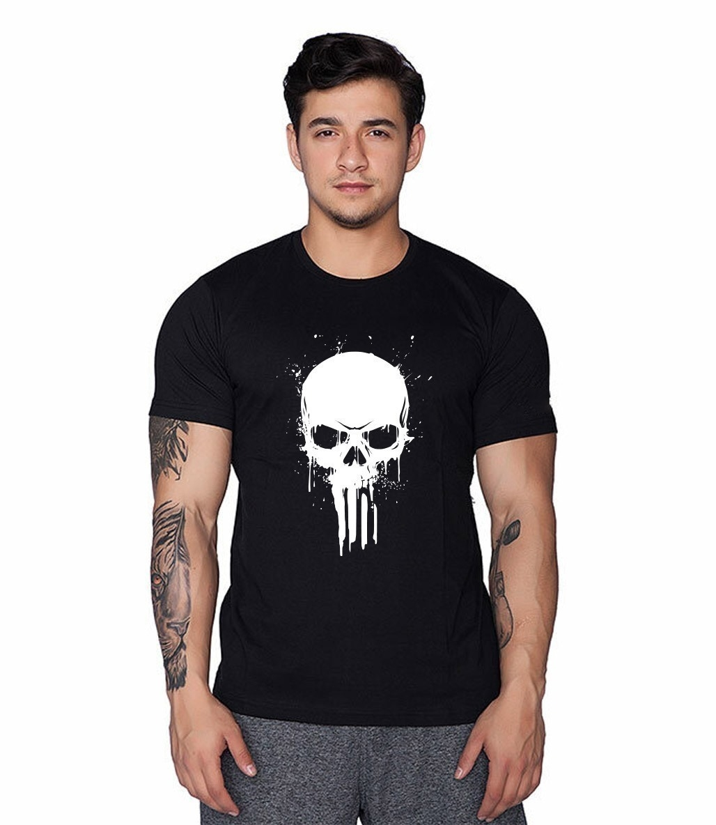 Supplementler.com Skull T-Shirt Siyah