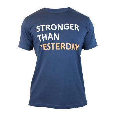 Supplementler.com Stronger Than Yesterday T-Shirt Lacivert