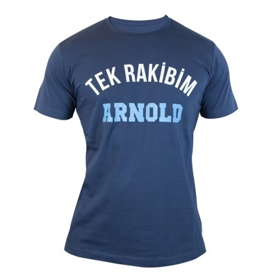 Supplementler.com Tek Rakibim Arnold T-Shirt Koyu Gri