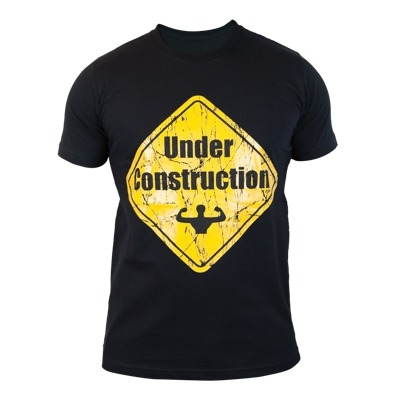 Supplementler.com Under Construction T-Shirt Siyah