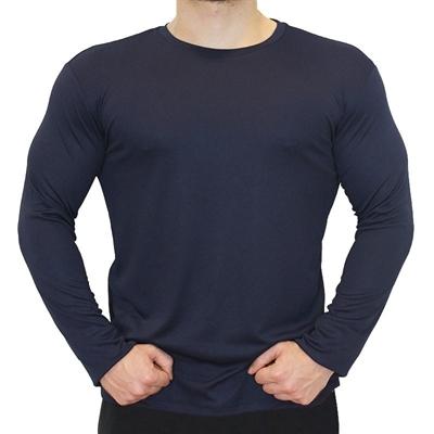 Supplementler.Com Uzun Kollu Antrenman T-Shirt Lacivert
