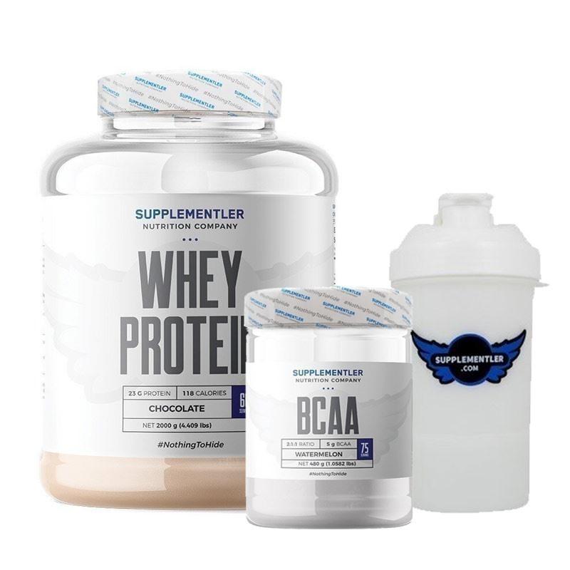 Supplementler.com Whey Protein 2000 Gr + BCAA 480 Gr Kombinasyonu
