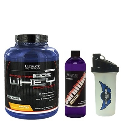 Ultimate Prostar %100 Whey 2390 Gr + Ultimate Carnitine Lqiuid 355 ML
