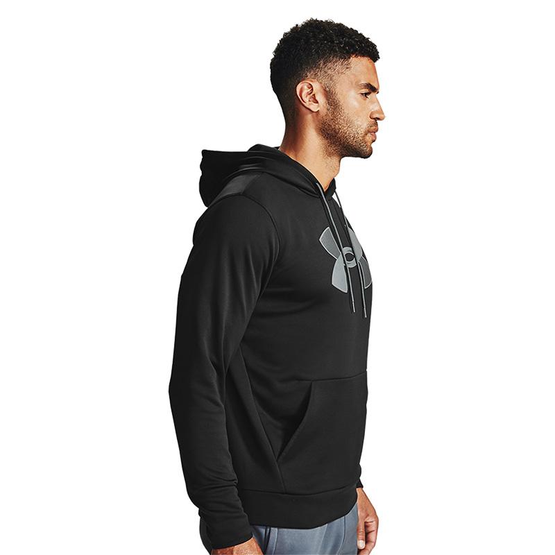 Under Armour Armour Fleece Big Logo Kapüşonlu Sweatshirt Siyah