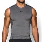 Under Armour HeatGear Kolsuz Compression T-Shirt Gri