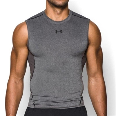 Under Armour HeatGear Kolsuz Compression T-Shirt Gri