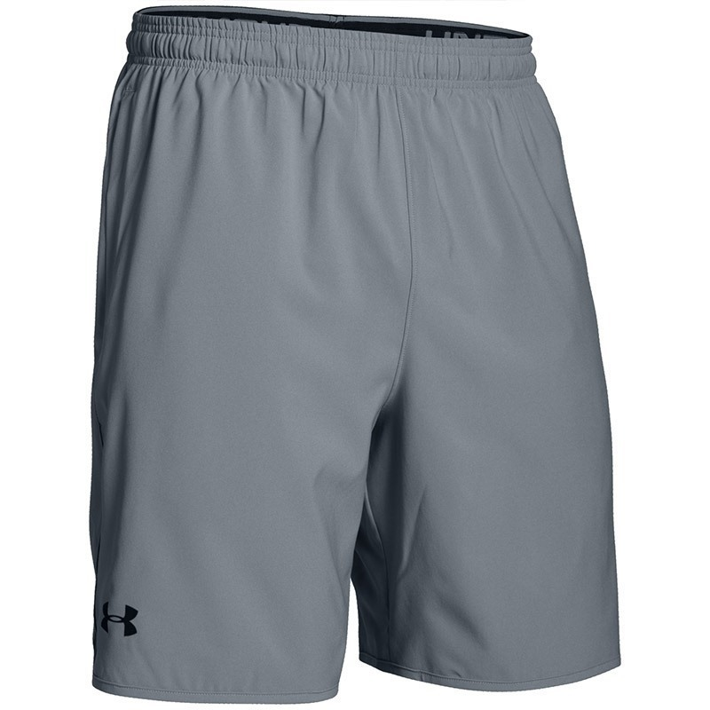 "Under Armour Qualifier 9"" Woven Erkek Şort - Gri"