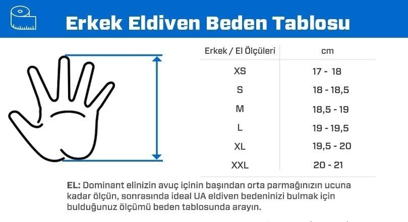 Under Armour Resistor Men's Yarım Parmak Antrenman Eldiveni - Siyah