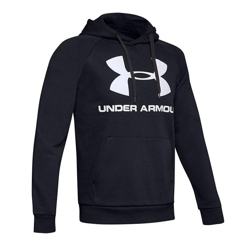 Under Armour Rival Fleece Logo Kapüşonlu Üst Siyah