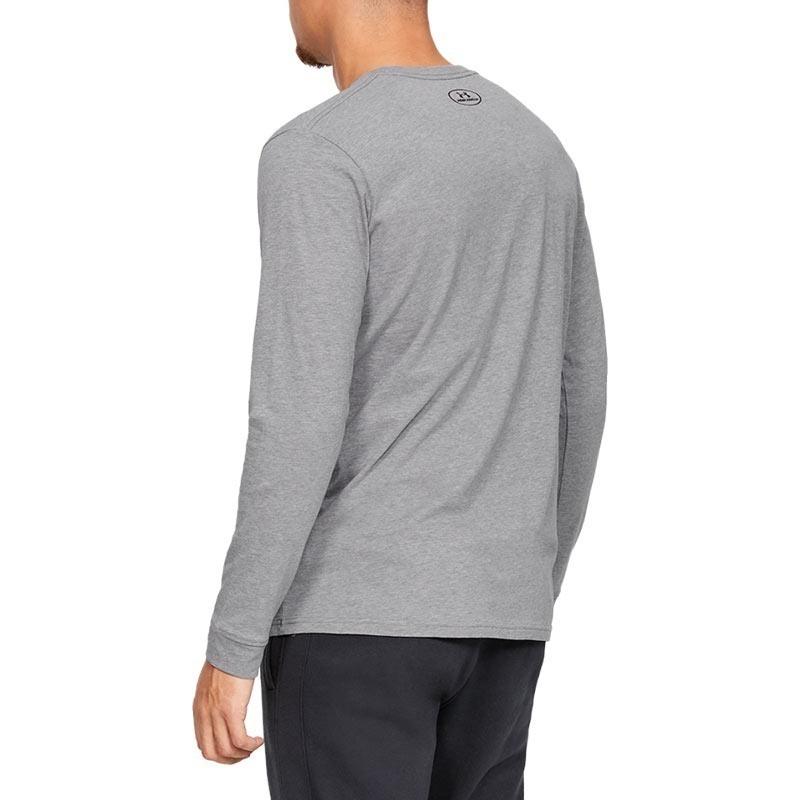 Under Armour Sportstyle Left Chest Long Uzun Kollu T-Shirt Gri