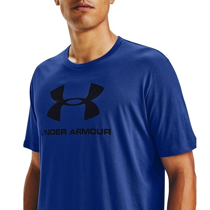 Under Armour Sportstyle Logo T-Shirt Mavi