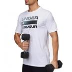 Under Armour Team Issue Wordmark Erkek T-Shirt Beyaz