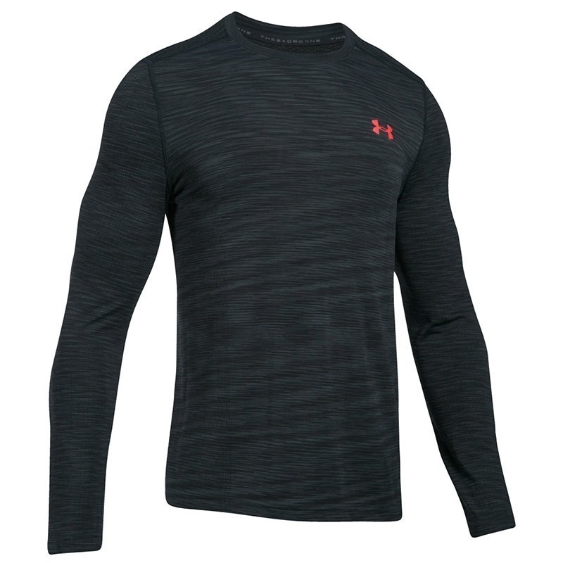 Under Armour Threadborne Seamless Ls Erkek Sweat-Shirt - Koyu Gri