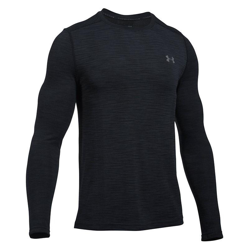 Under Armour Threadborne Seamless Ls Erkek Sweat-Shirt - Siyah