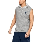 Under Armour x Project Rock Terry Kapüşonlu Kolsuz T-Shirt - Gri