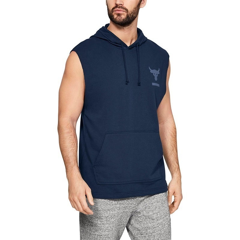 Under Armour x Project Rock Terry Kapüşonlu Kolsuz T-Shirt - Lacivert