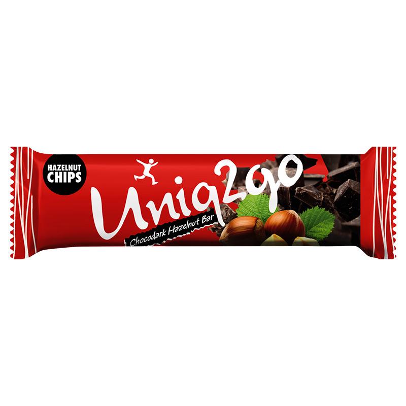 Uniq2go Chocodark Fındıklı Protein Bar  38 Gr 16 Adet