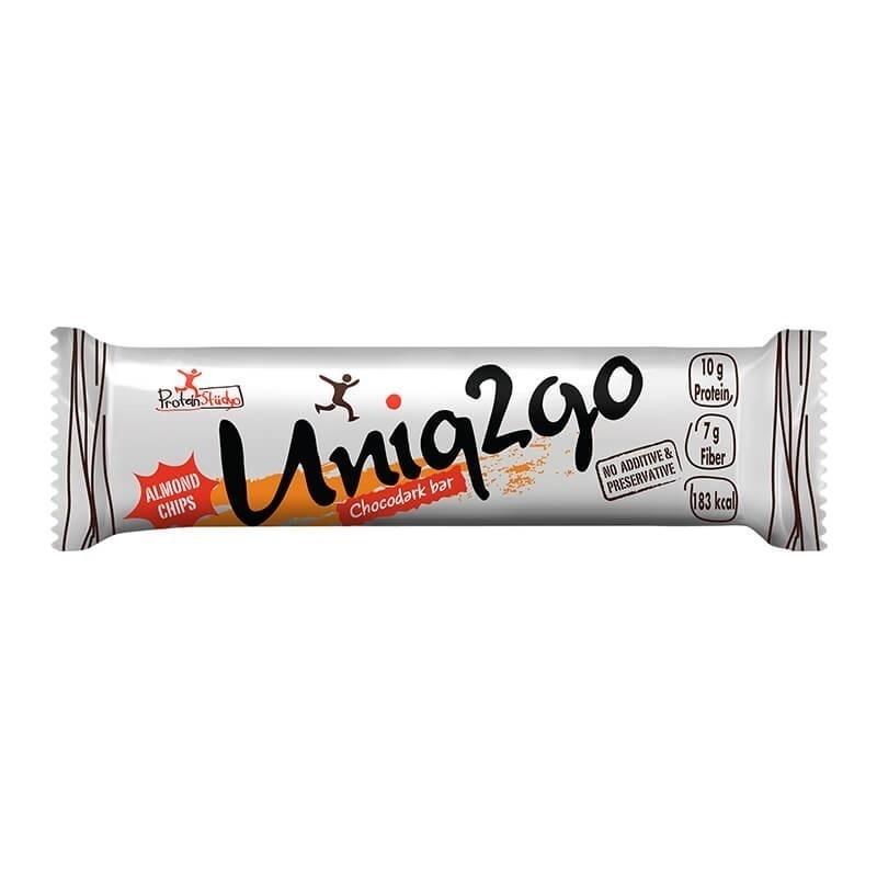 Uniq2go Chocodark Protein Bar 50 Gr 16 Adet
