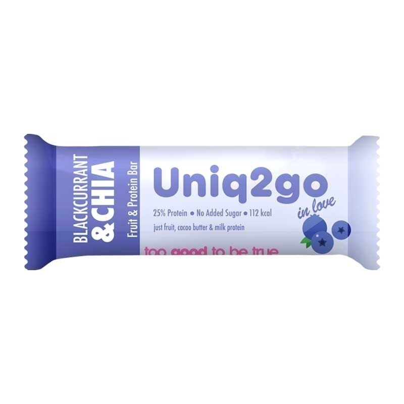 Uniq2go In Love  Frenk Üzümlü ve Chialı Protein Bar 32 Gr
