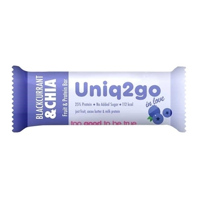 Uniq2go In Love  Frenk Üzümlü ve Chialı Protein Bar 32 Gr