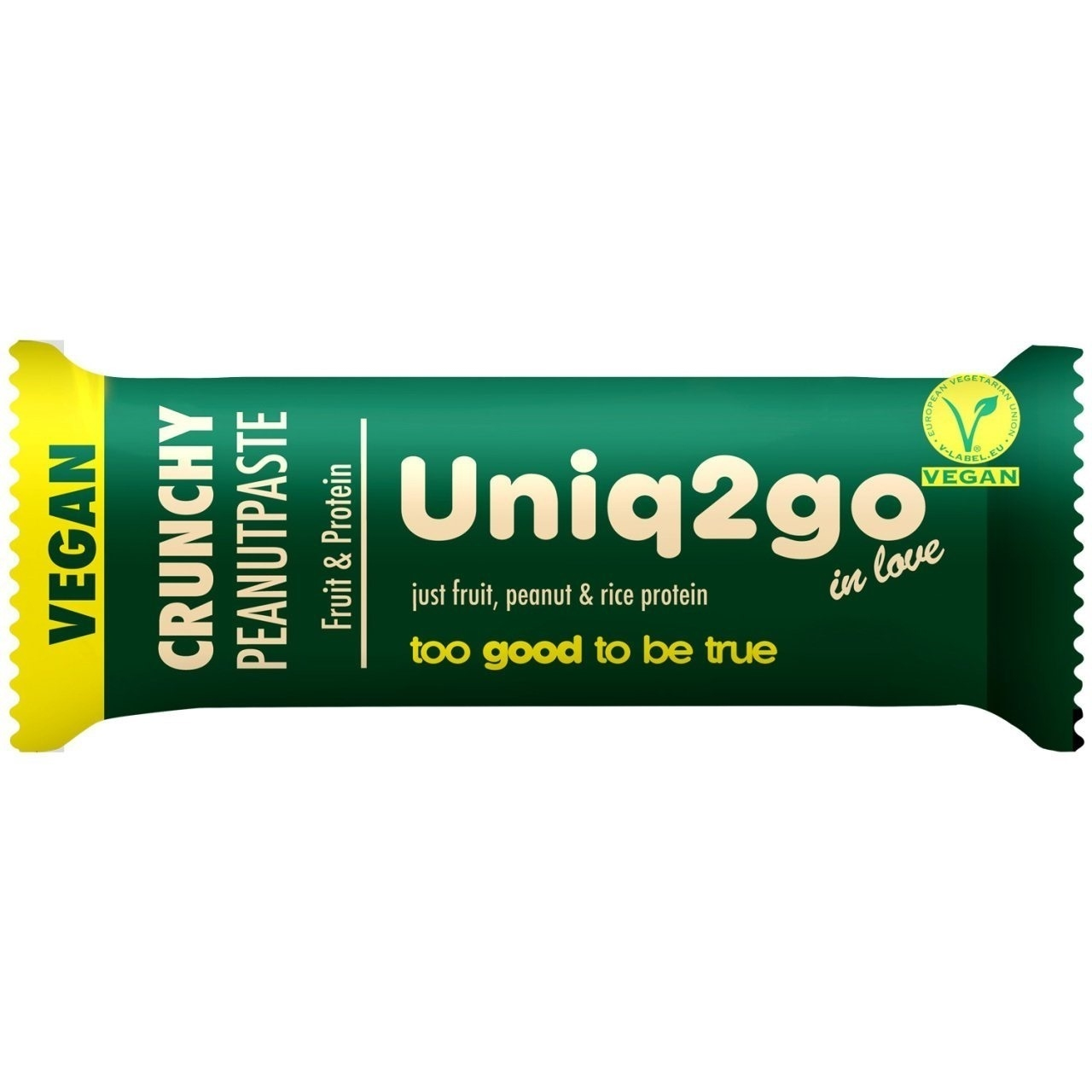 Uniq2go In Love Fıstık Ezmeli Pirinç Proteinli Vegan Bar 32 Gr