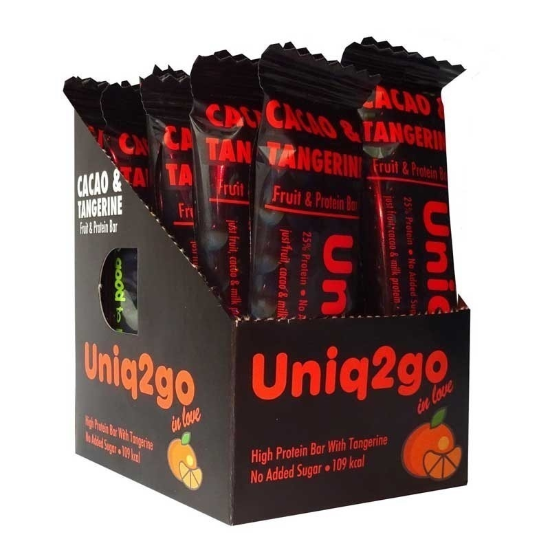 Uniq2go In Love  Kakaolu ve Mandalinalı Protein Bar 32 Gr 12 Adet