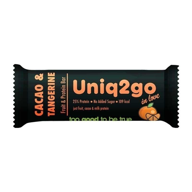 Uniq2go In Love  Kakaolu ve Mandalinalı Protein Bar 32 Gr 12 Adet