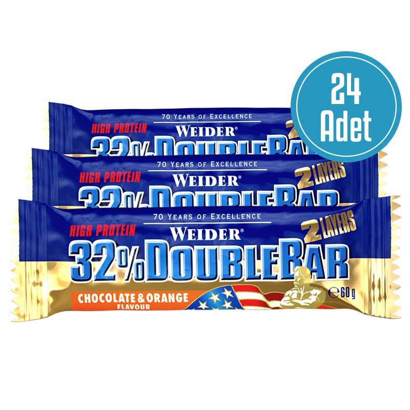 Weider Doublebar Protein Bar 60 Gr 24 Adet