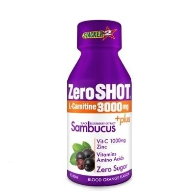 Zeroshot Shot 60 mL 3000 Mg L-Carnitine + Plus Sambucus