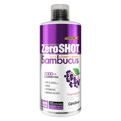 Zeroshot Shot Sambucus 2000 Mg L-Carnitine 960 mL