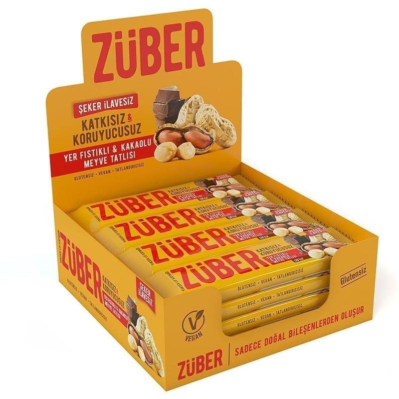 Züber Yer Fıstıklı & Kakaolu Meyve Tatlısı 40 Gr 12 Adet