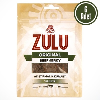 Zulu Beef Jerky Original 6 Adet